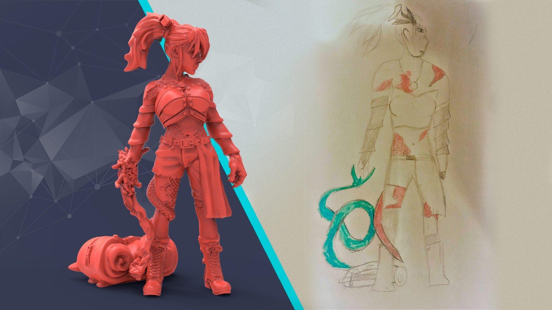 custom 3d modelling from sketch