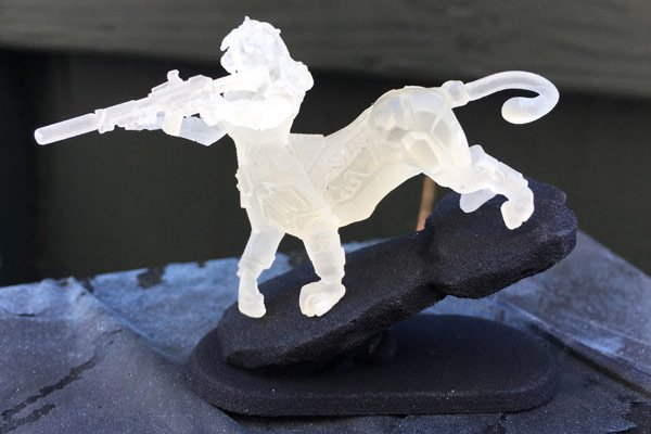 frosted ultra detail 3d printed miniature