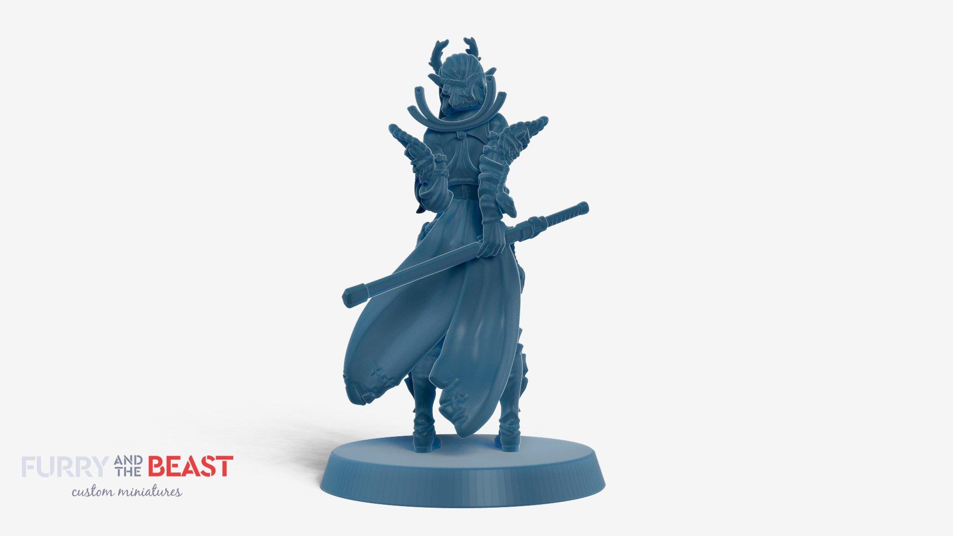 dragonblood human custom miniature for 3d printing