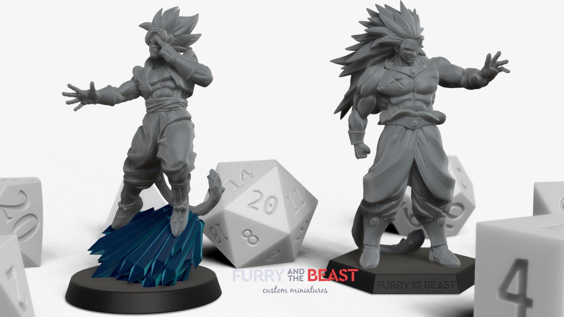 dragon ball style custom miniatures