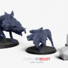 large dnd monster dungeons and dragons half wolf half reptile