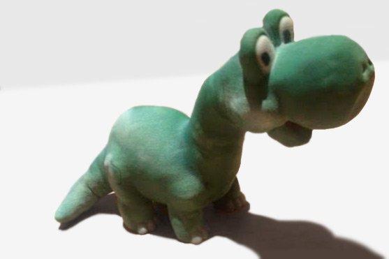 plasticine style dinosaur 3d printed in sandstone material