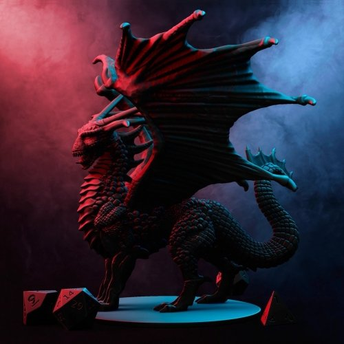 rounded face dragon miniature for dungeons and dragons